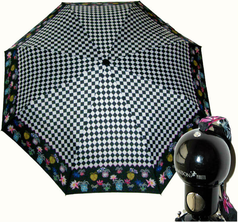 Зонт складной Maison Perletti 16207-ch Chess design