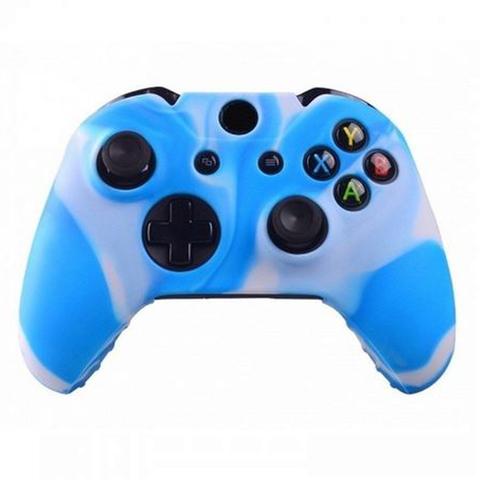 Xbox One Чехол для геймпада (камуфляж бело-голубой)