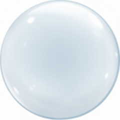 Шар (24''/61 см) Сфера 3D, Deco Bubble, Прозрачный, 1 шт.