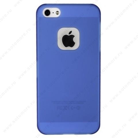 Накладка MOMAX для iPhone SE/ 5s/ 5C/ 5 синяя