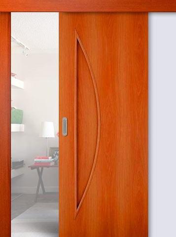 Дверь раздвижная Сибирь Профиль Луна (С-6), цвет миланский орех, глухая