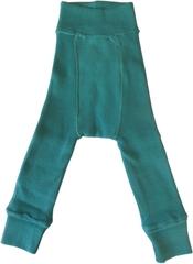 Пеленальные штанишки  длинные Babyidea Wool Longies, Бирюзовый (шерсть мериноса 100%)
