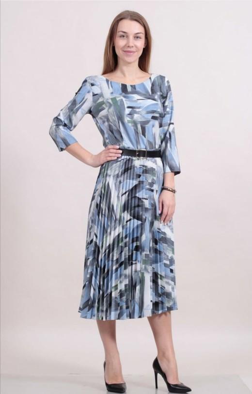 Платье Spektra 1814 гофре абстракция 3/4 (В20)