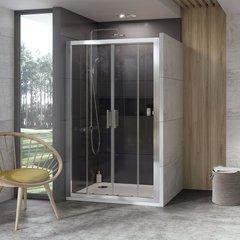 Дверь душевая раздвижная в нишу 150х190 см Ravak 10° 10DP4-150 0ZKP0100Z1 фото