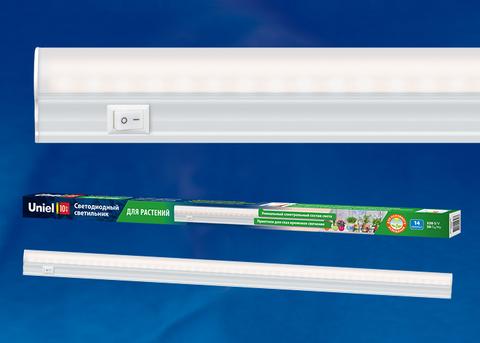 ULI-P10-10W/SPFR IP40 WHITE Светильник для растений светодиодный линейный, 550мм, выкл. на корпусе. Спектр для фотосинтеза. TM Uniel.