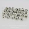 """Комплект металлических бусин для пандоры """"Алфавит"""" (цвет - античное серебро) 7х7 мм, 26 штук"""