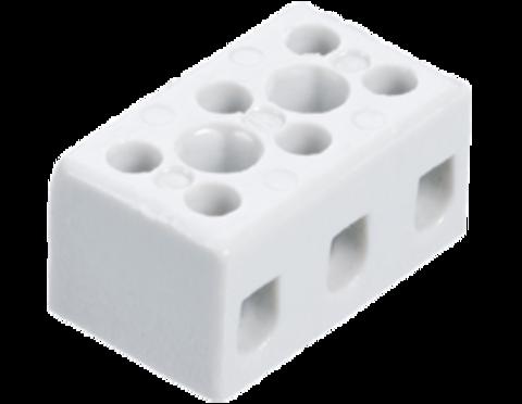 Высокотемпературная керамическая клемма 3 х 4,0 мм², с крепежным отверстием