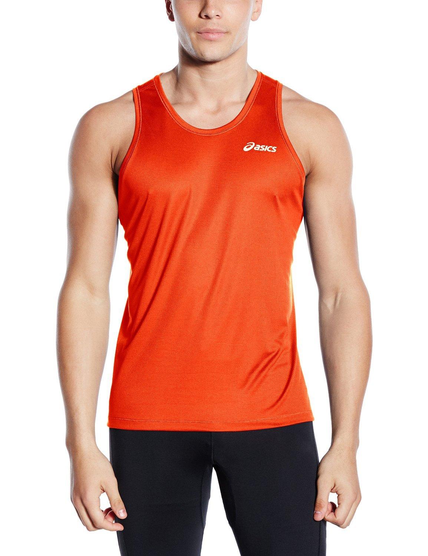 Мужская майка для бега Asics Singlet (110406 0506) оранжевая фото