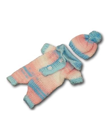 Вязаные ползунки - Голубой. Одежда для кукол, пупсов и мягких игрушек.