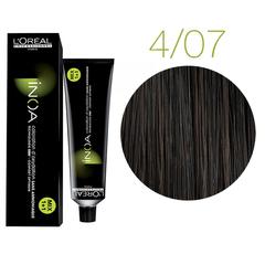 L'Oreal Professionnel INOA 4.07 (шатен глубокий метализированный) Краска для волос 60 мл.