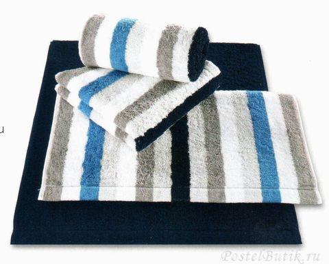 Полотенце 70х140 Cawo Life Style 7052 Sport Streifen синее