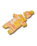Вязаные ползунки - Меланж желтый. Одежда для кукол, пупсов и мягких игрушек.
