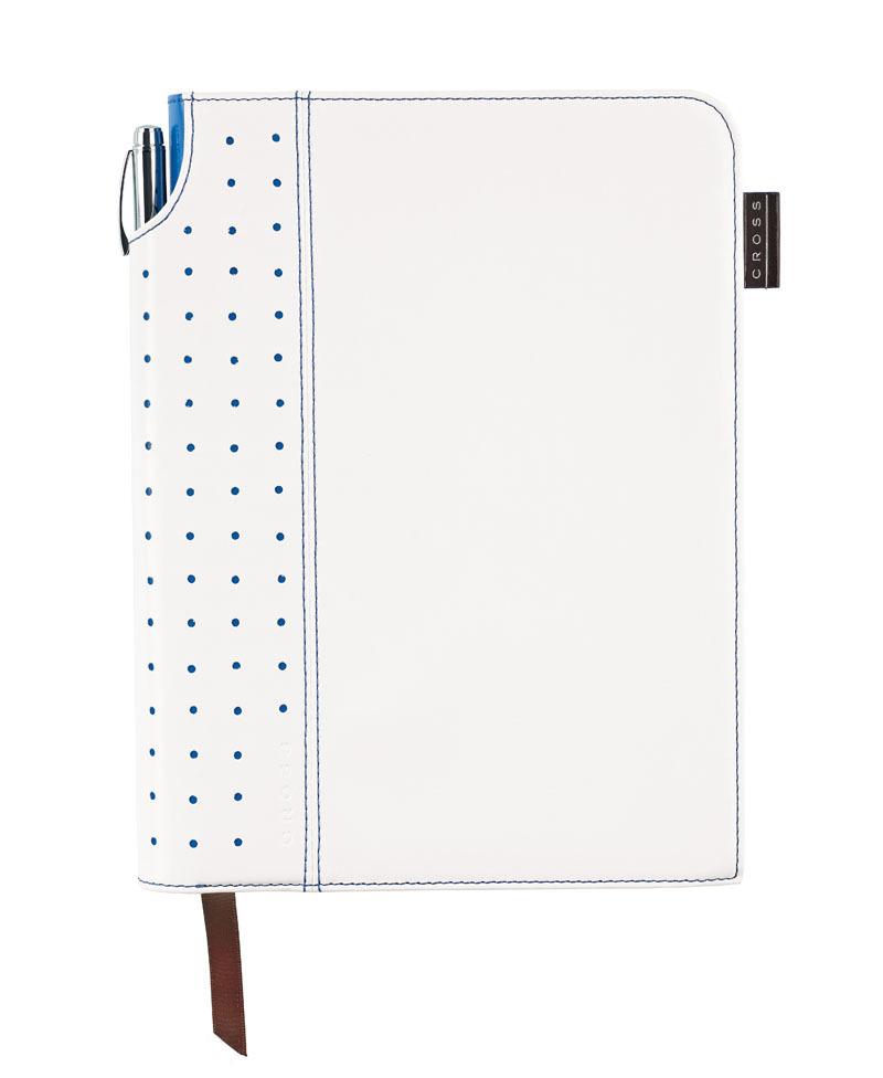 Записная книжка Cross Journal Signature A5, 250 страниц в линейку, ручка 3/4 в комплекте. Цвет - бел