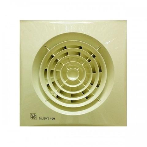 Вентилятор накладной S&P Silent 100 CRZ Ivory (таймер)