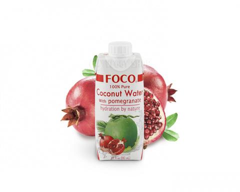 Кокосовая вода FOCO, с гранатом 330 мл
