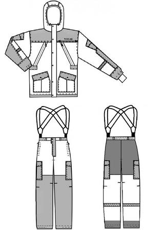 Костюм Горка зимний NEW (ткань финляндия мембрана)