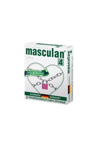 Презервативы Masculan Ultra 4,  3 шт.  Ультра прочные ШТ фото