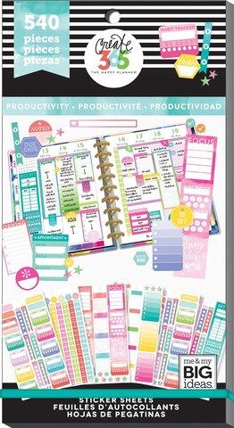 Блокнот со стикерами для ежедневника Happy Planner - Value Pack Stickers - Fill In Productivity-540 шт