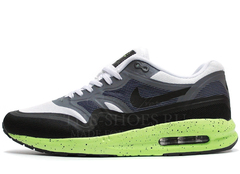 Кроссовки Мужские Nike Air Max 87 Lunarlon Grey Black White Green