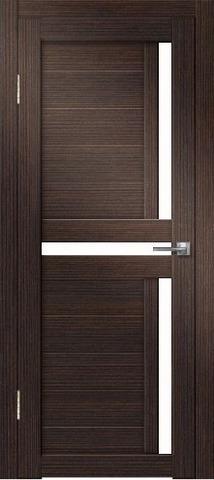 Дверь Дверная Линия Палермо-1, стекло снег, цвет венге, остекленная