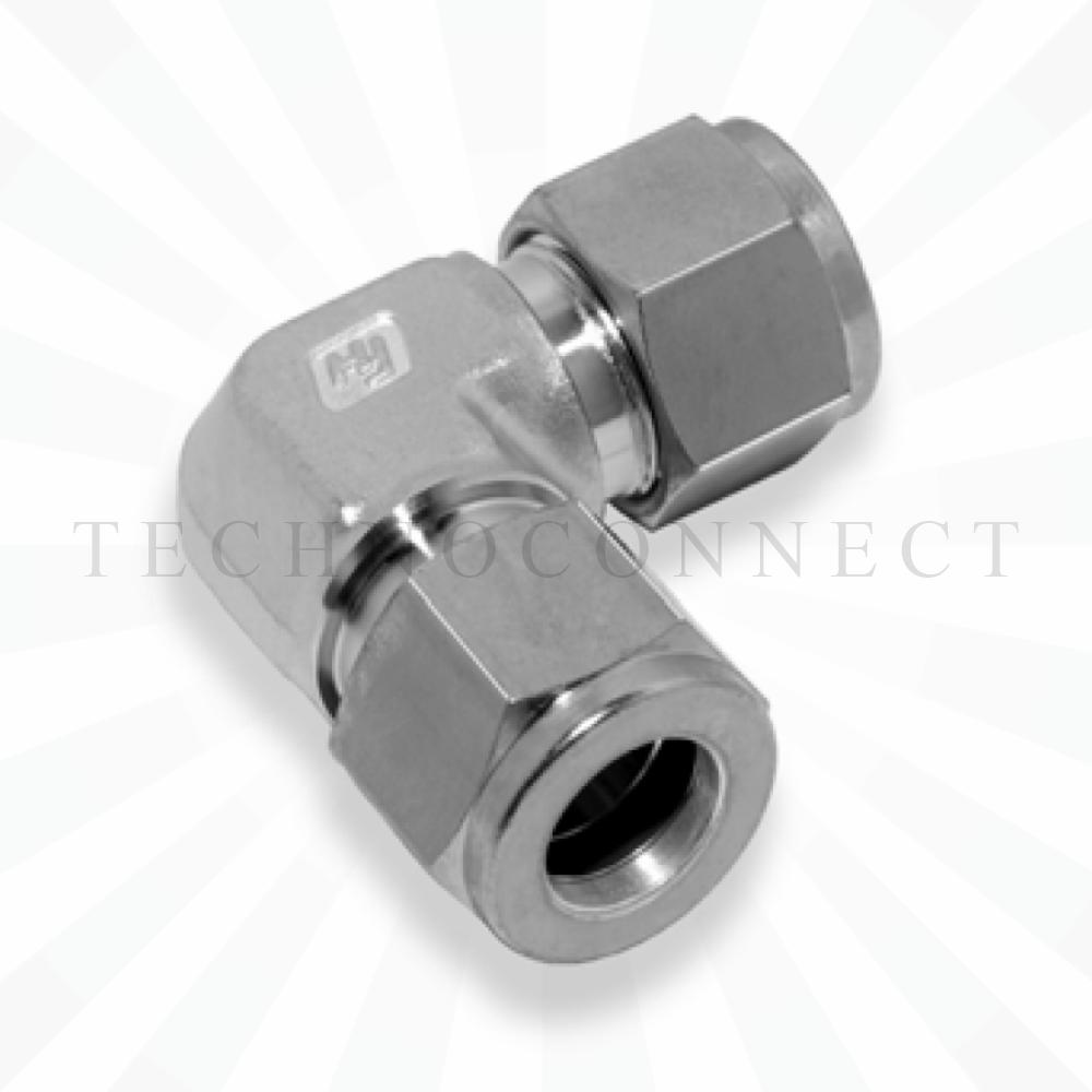 CLA-10M  Соединитель угловой: метрическая трубка  10 мм - метрическая трубка   10 мм