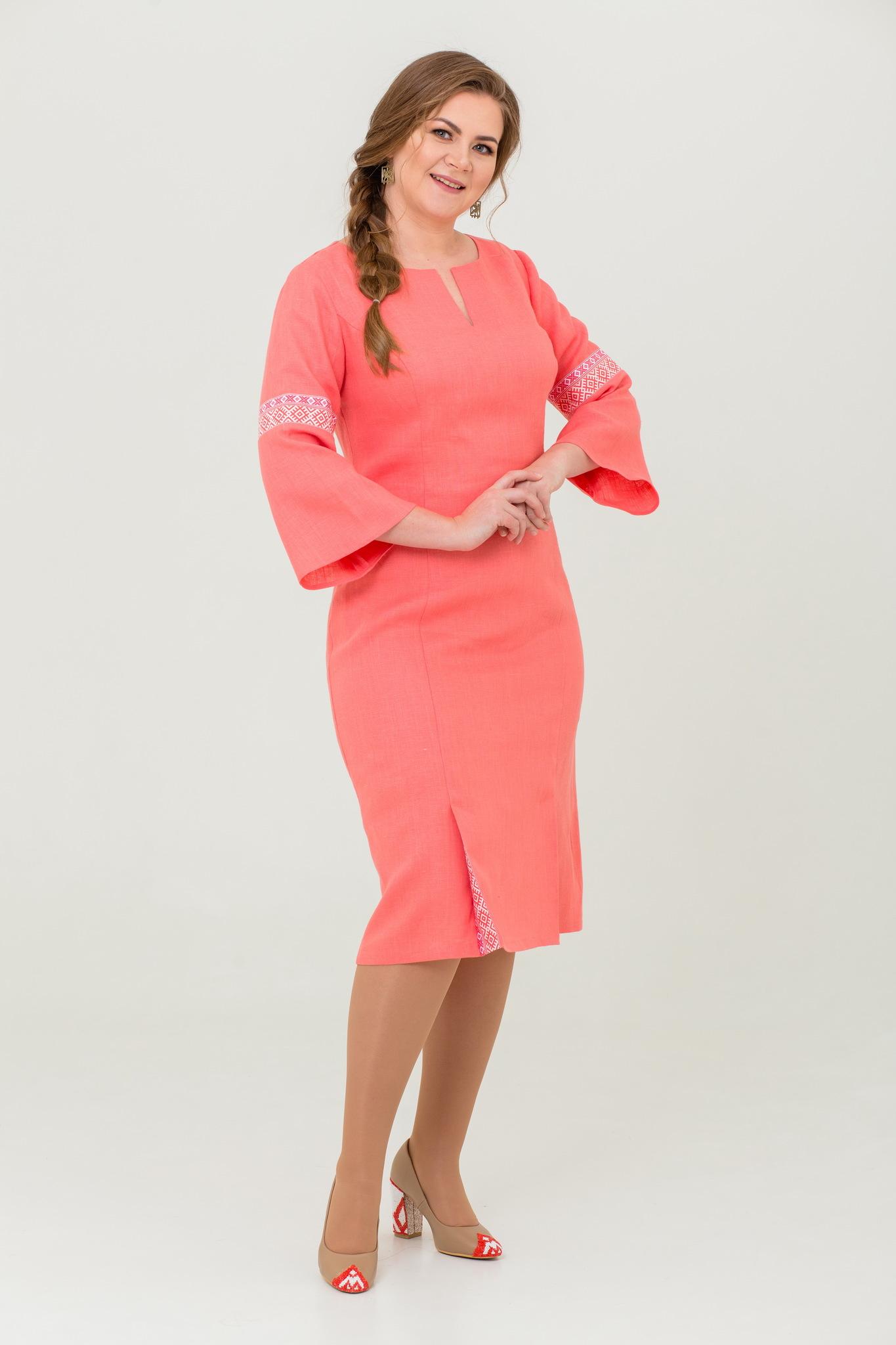 Платье льняное Царевна-лебедь в русском стиле