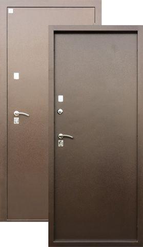 Дверь входная Алмаз Яшма, 2 замка, 1,5 мм  металл, (медь антик+медь антик)