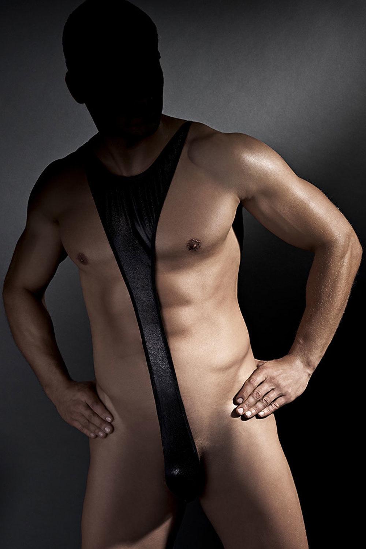 Мужское эротическое боди открытое черное (Anais)