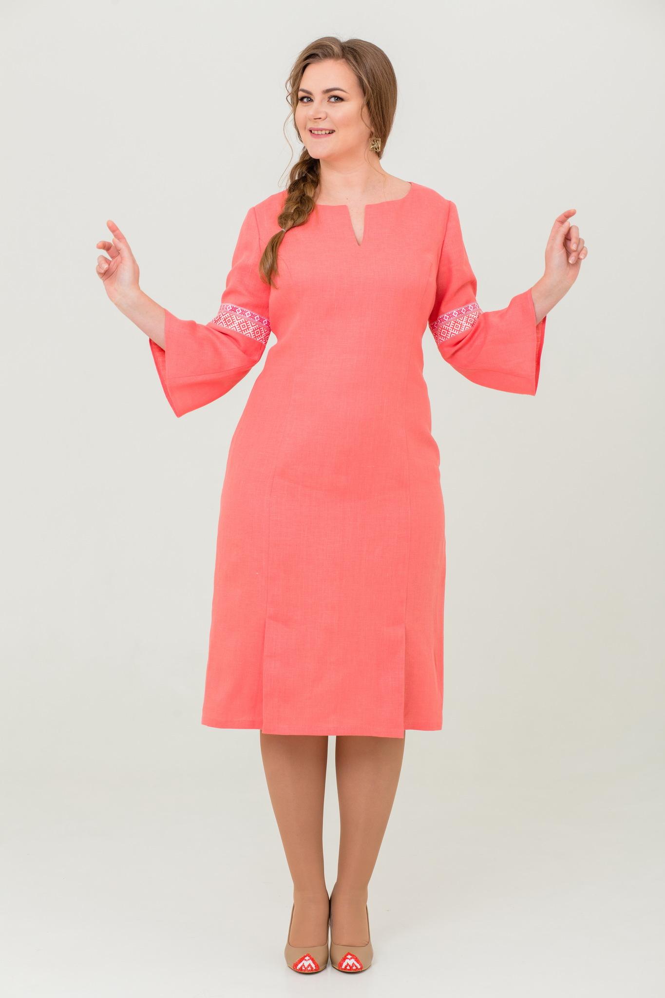 Платье льняное Царевна-лебедь славянское