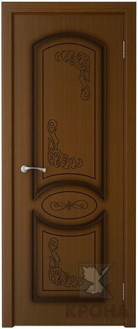 Дверь Крона Муза, цвет орех, глухая