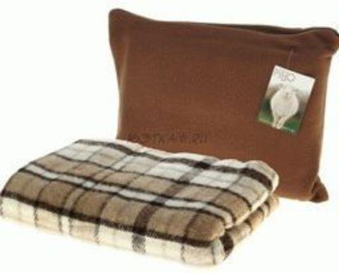 Подушка спутник коричневая