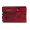 Швейцарская карточка Victorinox SwissCard, красная*