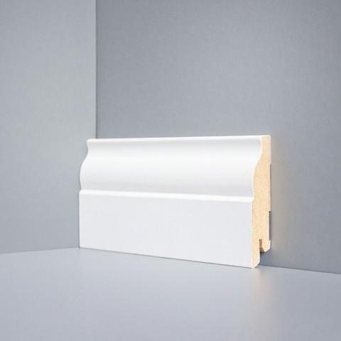 Белый ламинированный плинтус DEARTIO U103-80