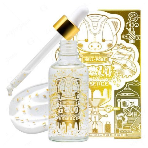 Elizavecca Эссенция для лица с ЗОЛОТОМ MILKY PIGGY HELL-PORE GOLD ESSENCE, 50мл