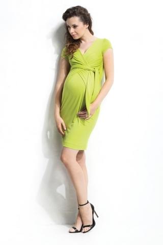 Платье для беременных и кормящих 05383 желтый