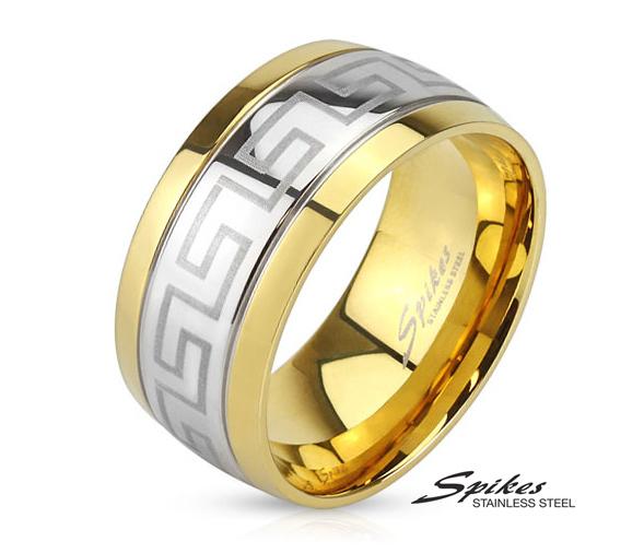 R-M3899-10 Двухцветное мужское кольцо «Spikes» из стали