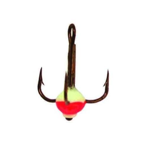Крючок-тройник с каплей Lucky John, размер №10, цвет 02