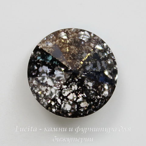 1122 Rivoli Ювелирные стразы Сваровски Crystal Black Patina (14 мм) ()