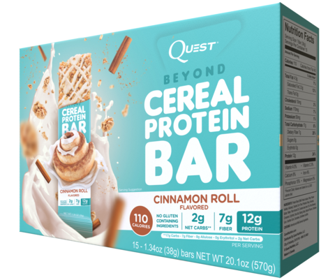 Quest Nutrition Cereal Bar Cinnamon Roll (Сдобная булочка), 15шт