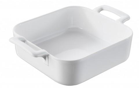 Квадратное фарфоровое блюдо для запекания, белое, артикул 621333, серия Belle Cuisine