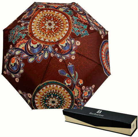 Купить онлайн Зонт складной Barbarina 2303 Terracotta erbosa в магазине Зонтофф.
