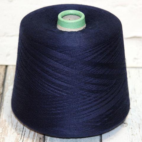 Лен с кашемиром (28%) и шелком (12%) LORO PIANA / OASI 2/62 темно-синий