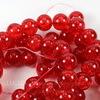 """Бусина стеклянная """"Крэкл"""", шарик, цвет - красный, 10 мм, нить"""