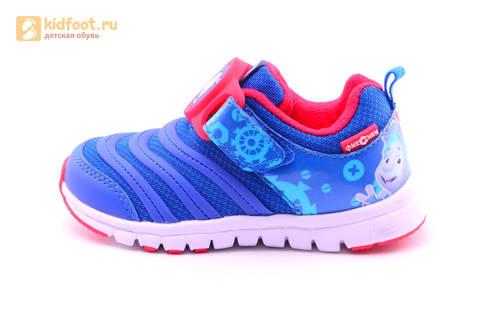Светящиеся кроссовки для мальчиков Фиксики на липучках, цвет Синий, мигает пряжка на липучке, 5916D. Изображение 3 из 18.