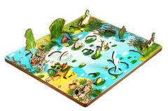 Развивающая доска Обитатели пруда, Нескучные игры