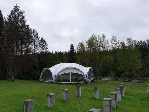 Арочный шатер 15х13 «Гексагональ»