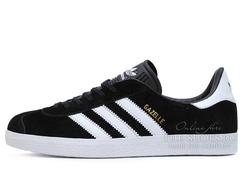 Кроссовки Мужские Adidas Gazelle  Black White
