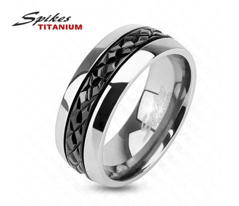 Стильное мужское кольцо «Spikes» из титана