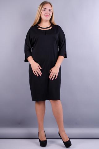 Дюна. Платья больших размеров. Черный.