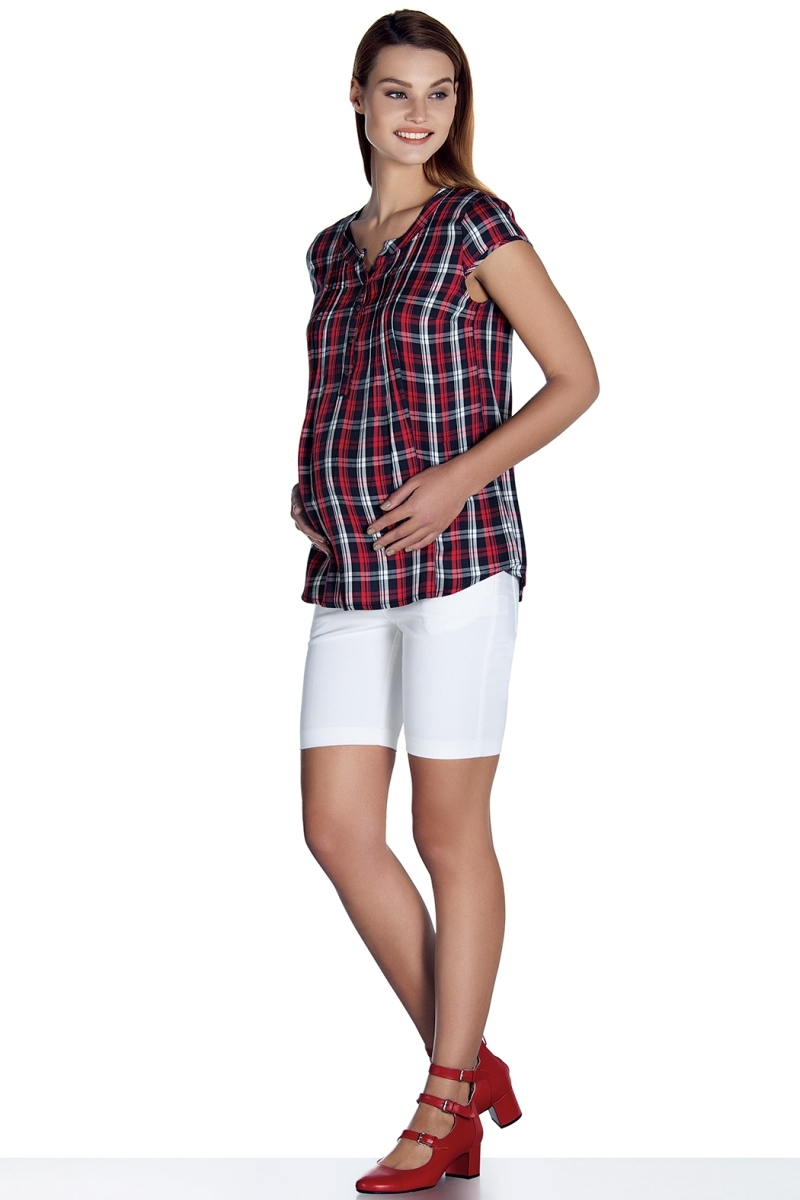Блузка для беременных 08477 красный
